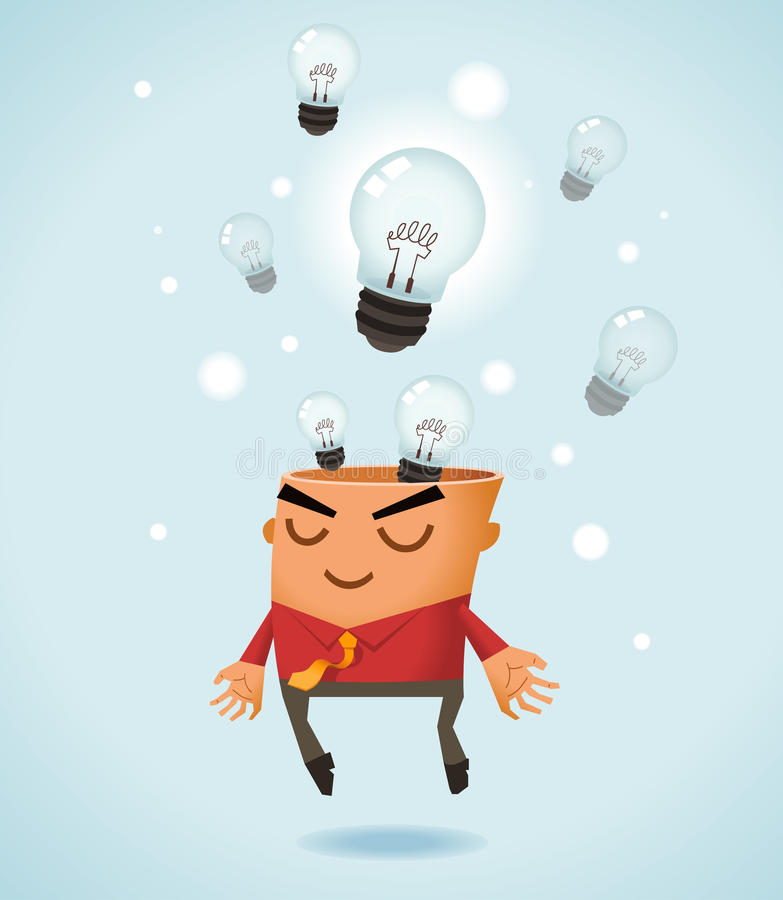 Download Brainstorming stock vector. Image of lamp, bulb, business - 24910111