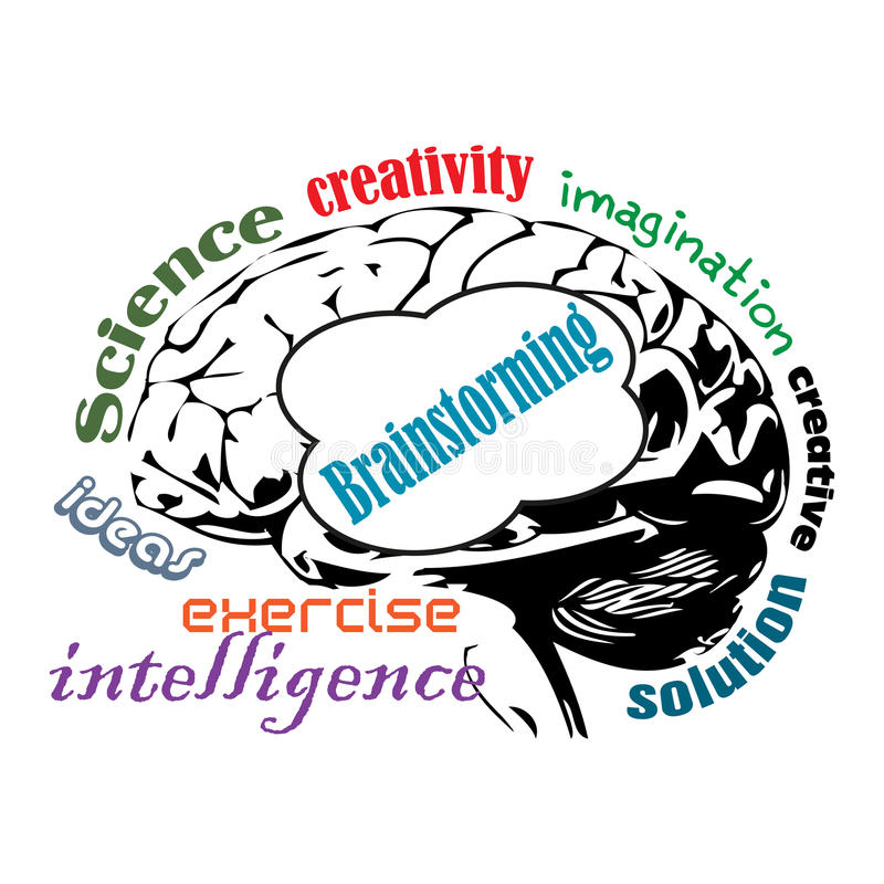 Brainstorming ilustracja wektor