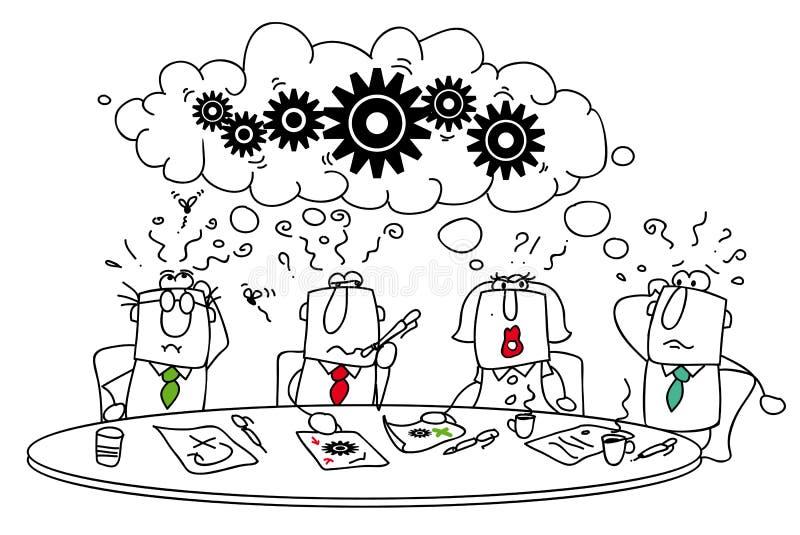Brainstorming. royalty-vrije illustratie