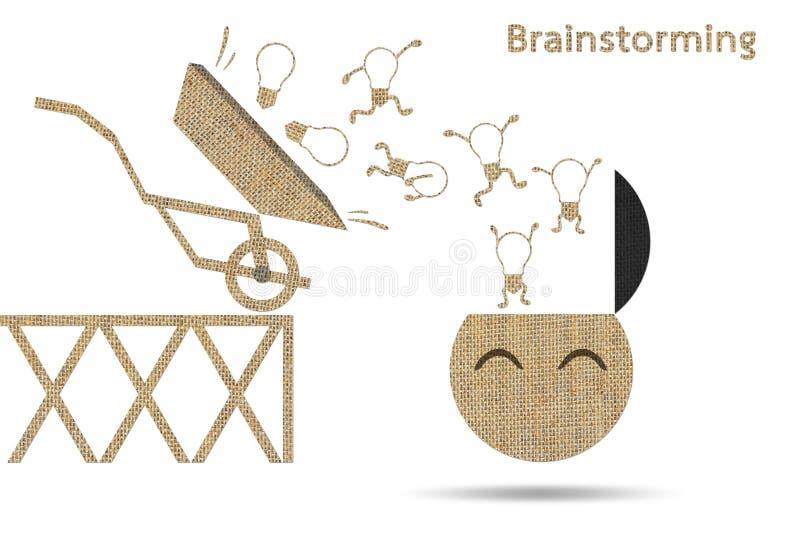 brainstorming royalty ilustracja