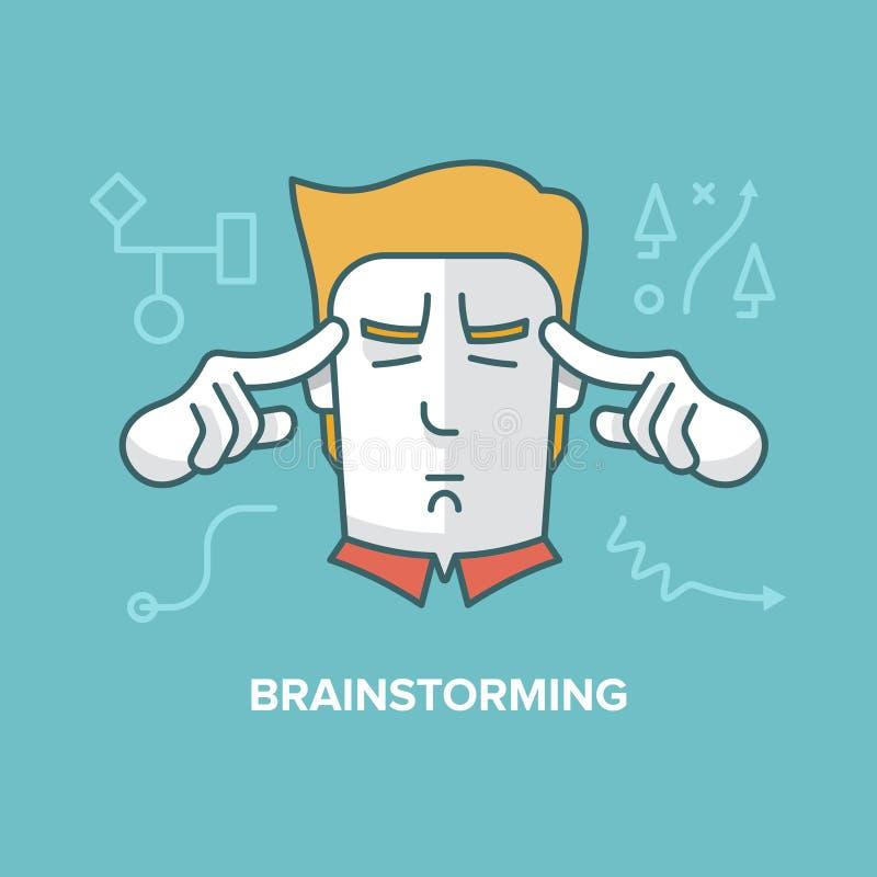 brainstorming illustration libre de droits