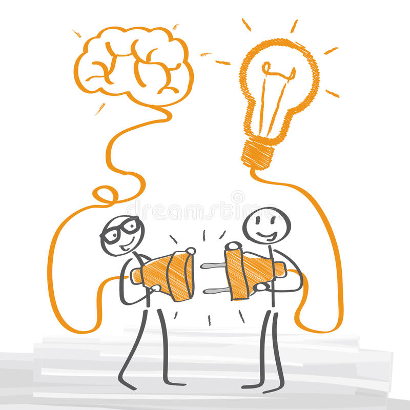 brainstorming stock illustratie