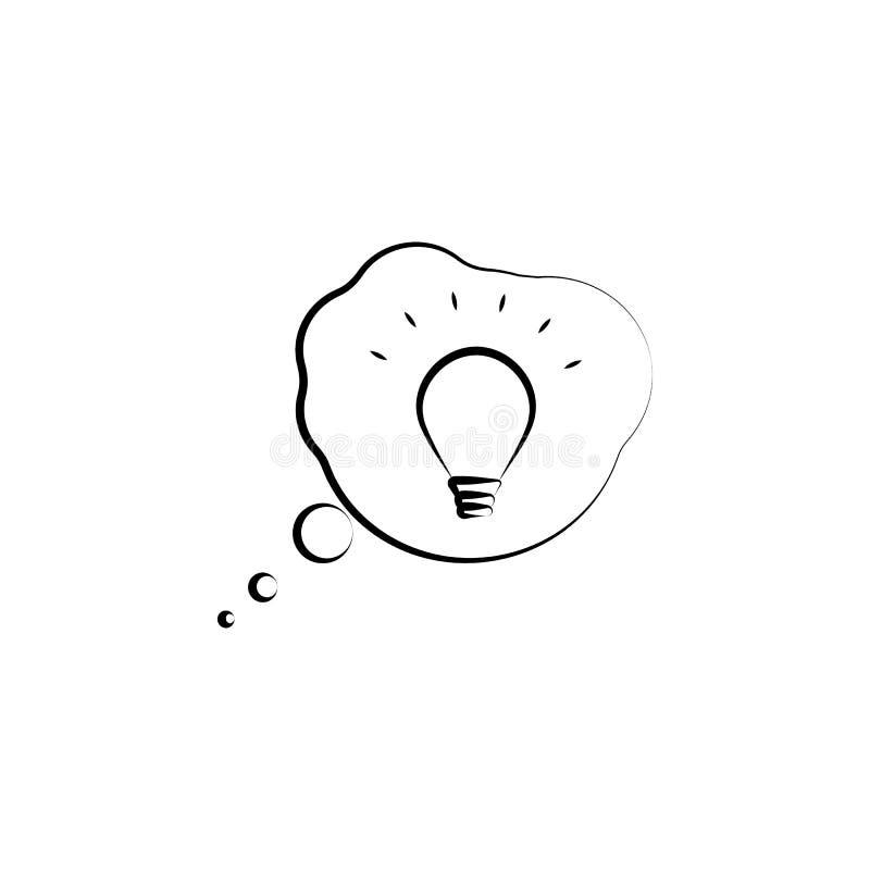 brainstorming, biznes, pomysł ręka rysująca ikona Konturu symbolu projekt od biznesu setu royalty ilustracja