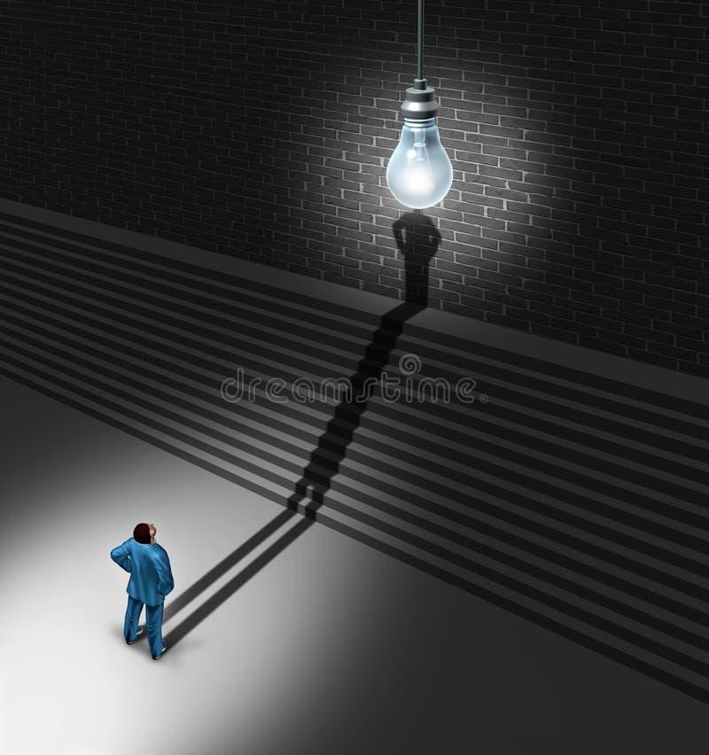 Brainstorming biznesmen ilustracja wektor