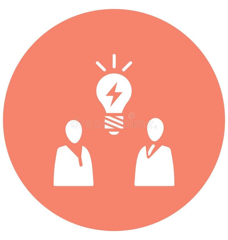 Brainstorming, biznesowy pomysł Odizolowywająca Wektorowa ikona może być łatwo redaguje i modyfikuje ilustracja wektor