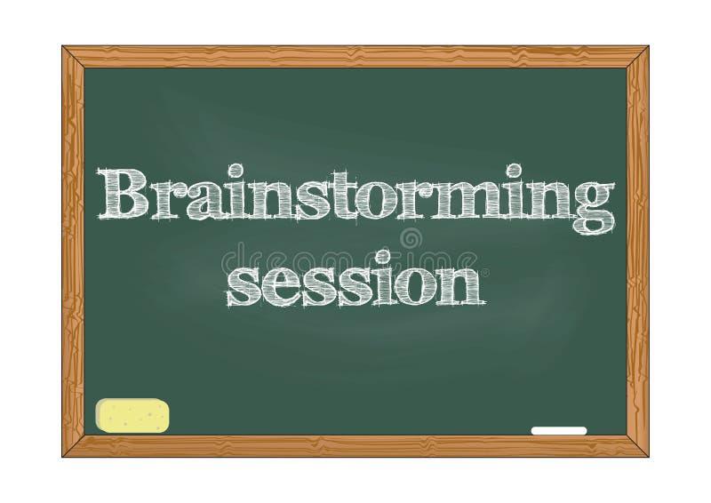 Brainstorming chalkboard zawiadomienia wektoru sesyjna ilustracja royalty ilustracja