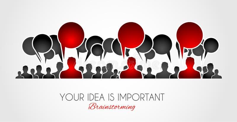 Brainstorming concepual wizerunek z ręka rysującym biznesowym doodle ilustracji