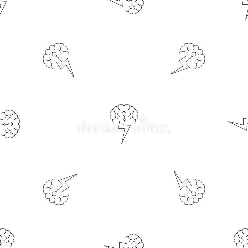 Brainstorming deseniowego bezszwowego wektor ilustracja wektor