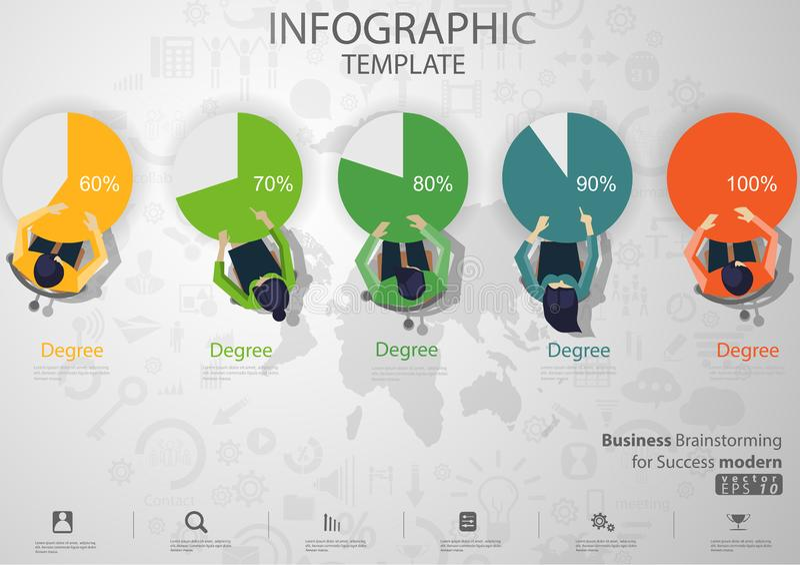 'brainstorming' di affari per il modello di Infographic dell'illustrazione di vettore di idea e di concetto di progettazione mode immagine stock libera da diritti