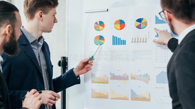 'brainstorming' di analisi commerciale di riunione corporativa immagini stock