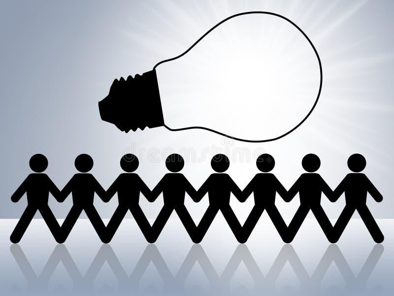 Brainstorming erneuern und Idee für Erfolg stock abbildung