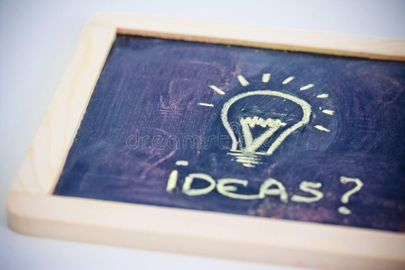 Download Brainstorming, Funny Lightbulb On Blackboard Stock Photo - Image: 29194072