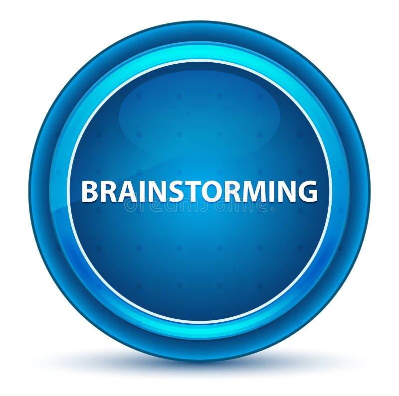 Brainstorming gałki ocznej Round Błękitny guzik ilustracji