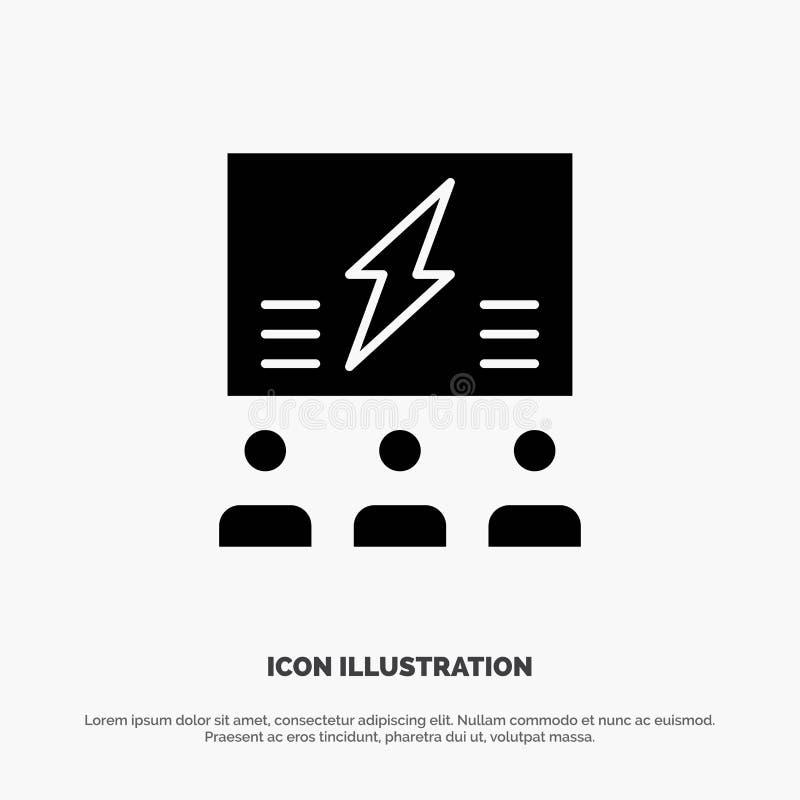 Brainstorming, grupa, pomysł, rozwiązanie, drużyna, myśl, Myśląca stała glif ikona wektorowa royalty ilustracja