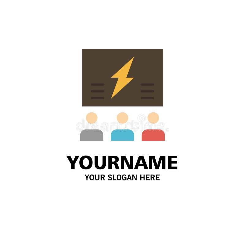 Brainstorming, grupa, pomysł, rozwiązanie, drużyna, myśl, Myślący Biznesowy logo szablon p?aski kolor ilustracji