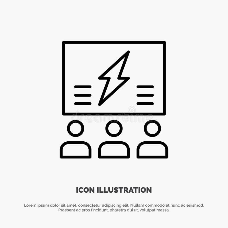 Brainstorming, grupa, pomysł, rozwiązanie, drużyna, myśl, Myśleć Kreskową ikonę Wektorowa ilustracji