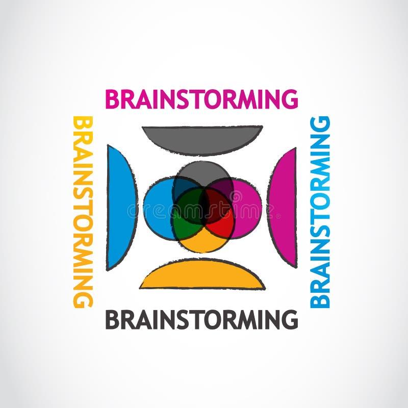 Brainstorming grupy ilustracji