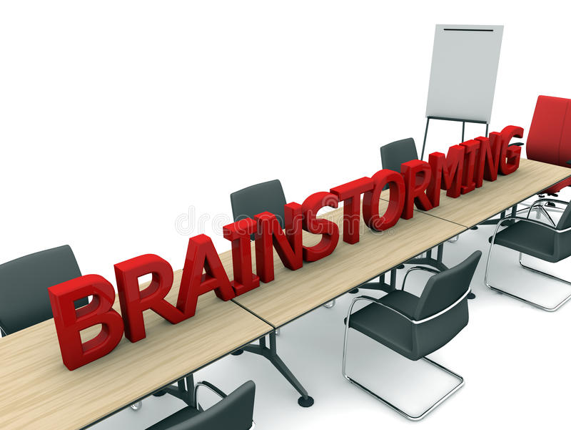 Download Brainstorming i pokój ilustracji. Ilustracja złożonej z brainstorming - 28960247