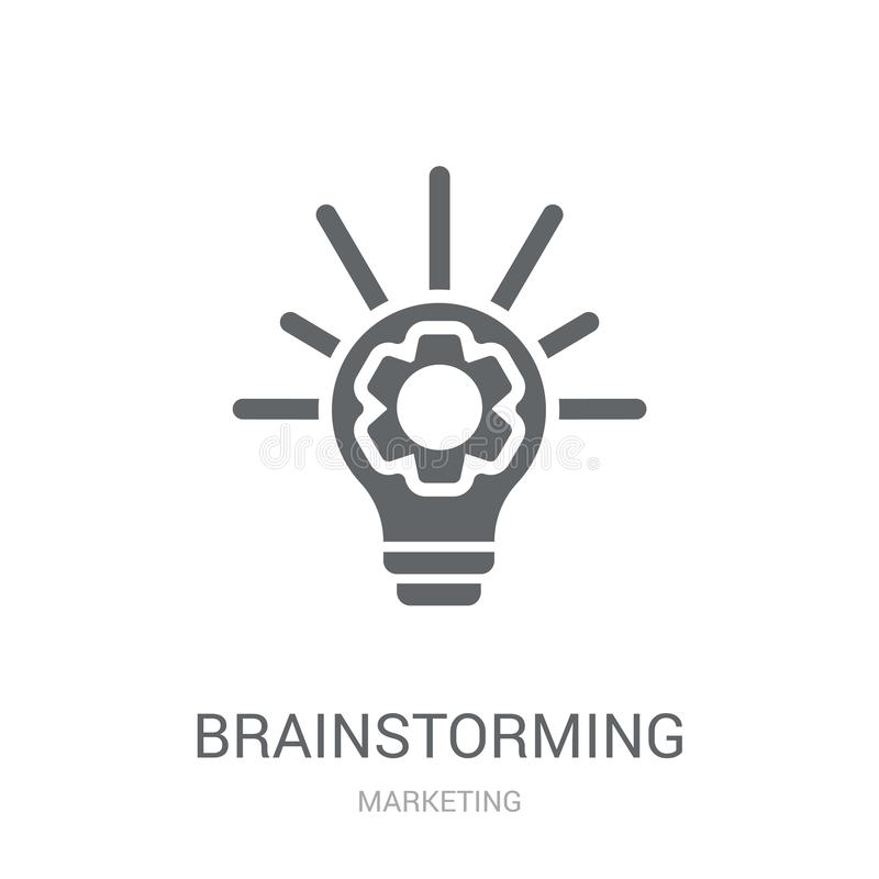Brainstorming ikona  ilustracja wektor