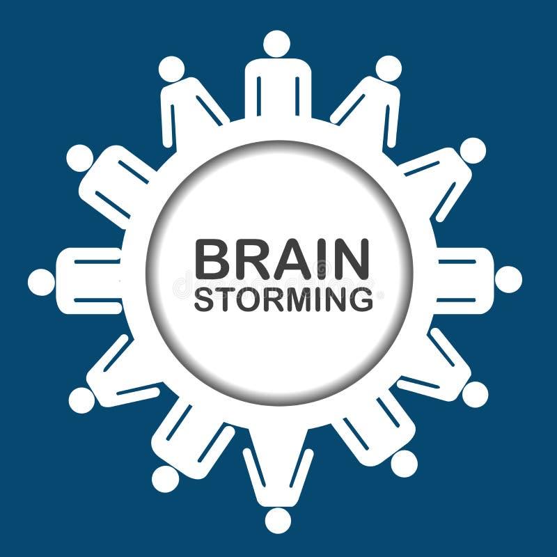 Brainstorming ikona royalty ilustracja