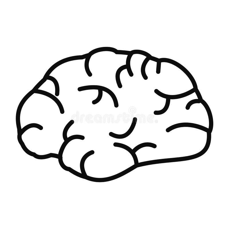 Brainstorming ikona, konturu styl royalty ilustracja