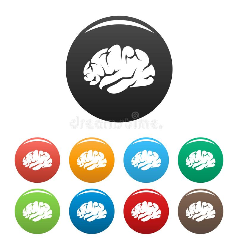 Brainstorming ikona, prosty styl ilustracji