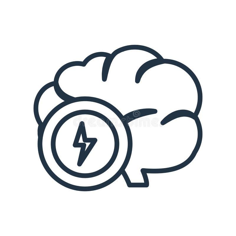 Brainstorming ikony wektor odizolowywający na białym tle, Brainsto royalty ilustracja