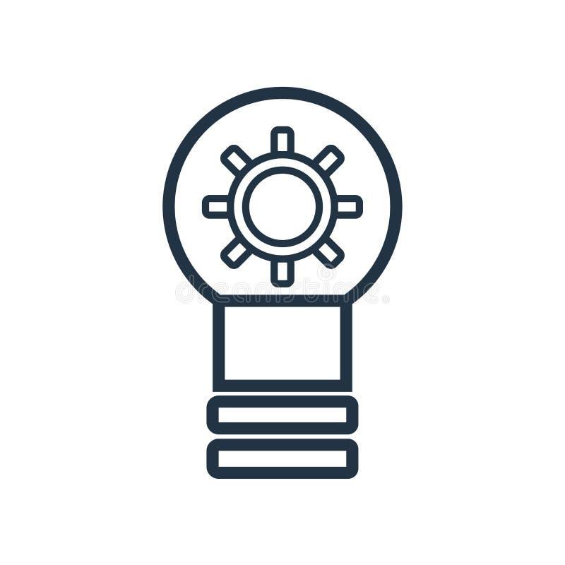 Brainstorming ikony wektor odizolowywający na białym tle, Brainstorming znak ilustracji