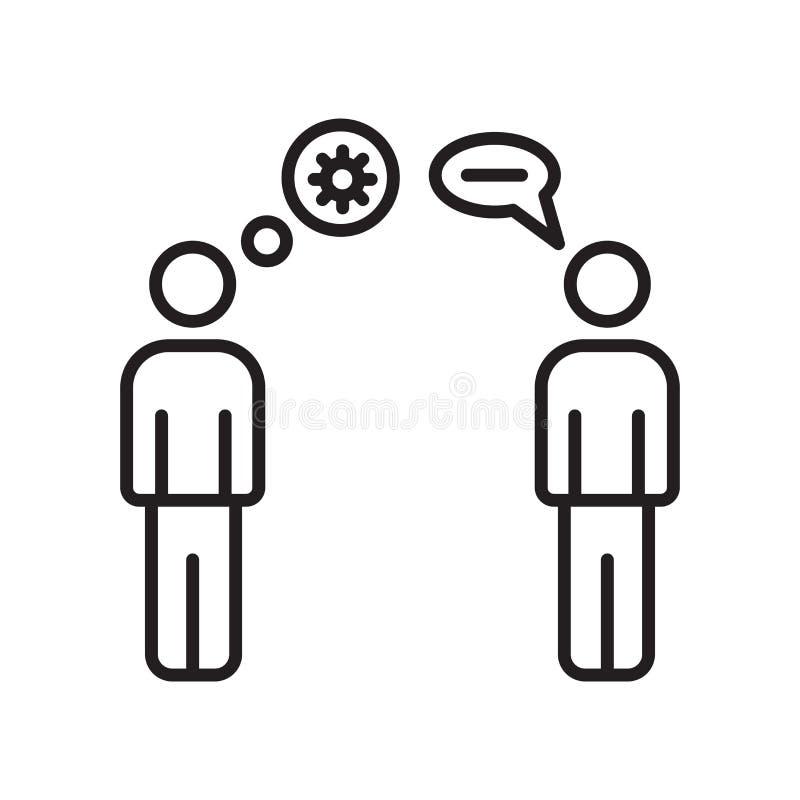 Brainstorming ikony wektor odizolowywający na białym tle, Brainstorming znak, znak i symbole w cienkim liniowym konturze, projekt ilustracja wektor