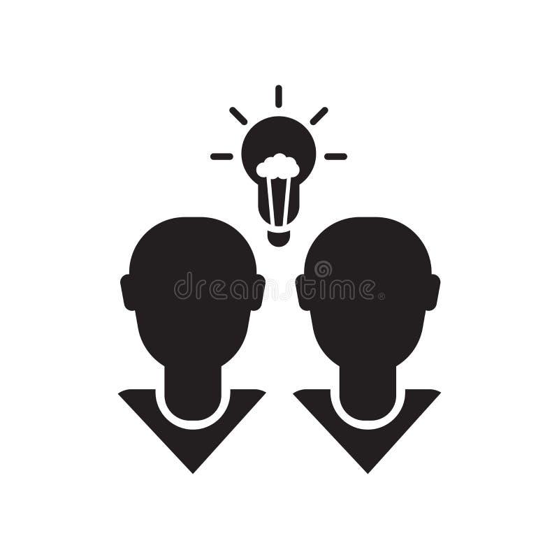 Brainstorming ikony ikony wektoru znak i symbol odizolowywający na białym tle, Brainstorming ikony logo pojęcie ilustracja wektor
