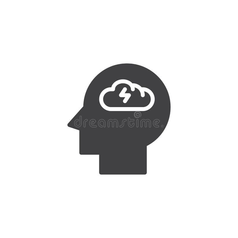 Brainstorming kierowniczą wektorową ikonę ilustracji