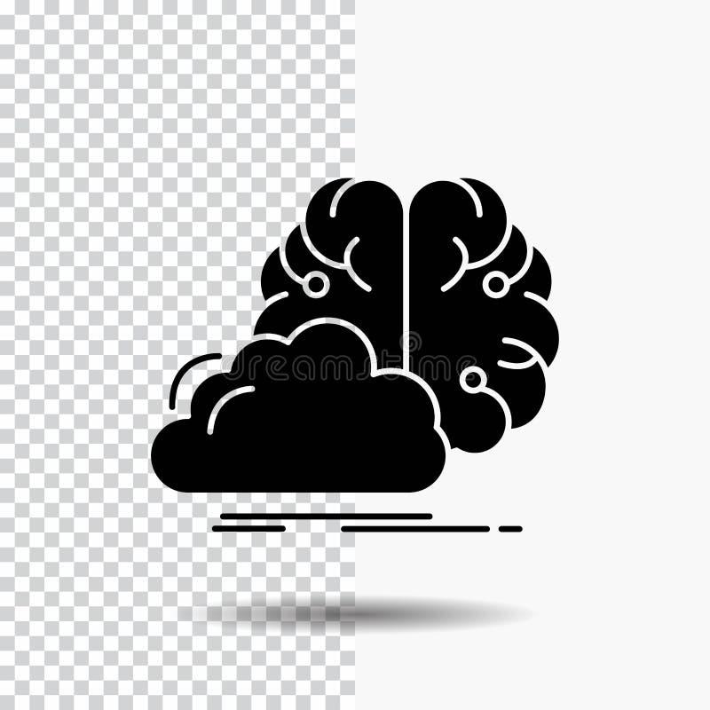 brainstorming, kreatywnie, pomysł, innowacja, inspiracja glifu ikona na Przejrzystym tle Czarna ikona ilustracja wektor