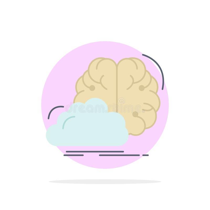 brainstorming, kreatywnie, pomysł, innowacja, inspiracja koloru ikony Płaski wektor ilustracja wektor