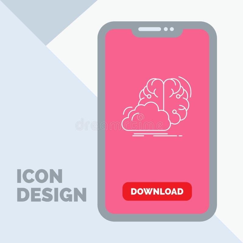 brainstorming, kreatywnie, pomysł, innowacja, inspiracji Kreskowa ikona w wiszącej ozdobie dla ściąganie strony ilustracji