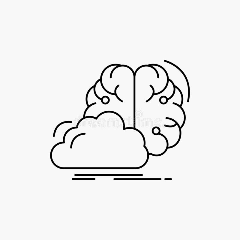 brainstorming, kreatywnie, pomysł, innowacja, inspiracji Kreskowa ikona Wektor odosobniona ilustracja royalty ilustracja