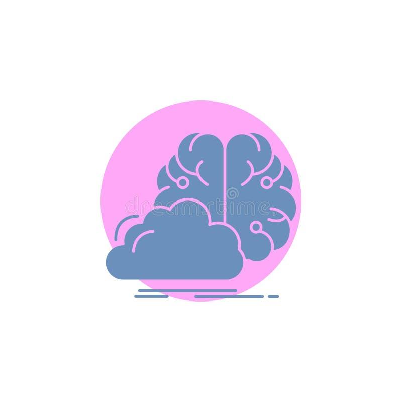 brainstorming, kreatywnie, pomys?, innowacja, inspiracja glifu ikona ilustracji