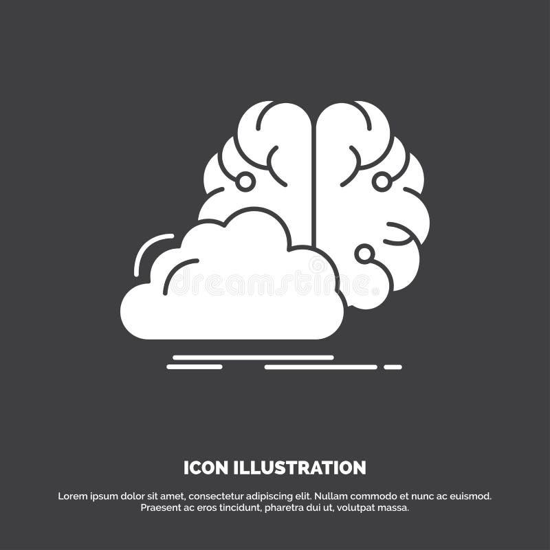 brainstorming, kreatywnie, pomys?, innowacja, inspiracji ikona glifu wektorowy symbol dla UI, UX, strona internetowa i wisz?cej o ilustracja wektor