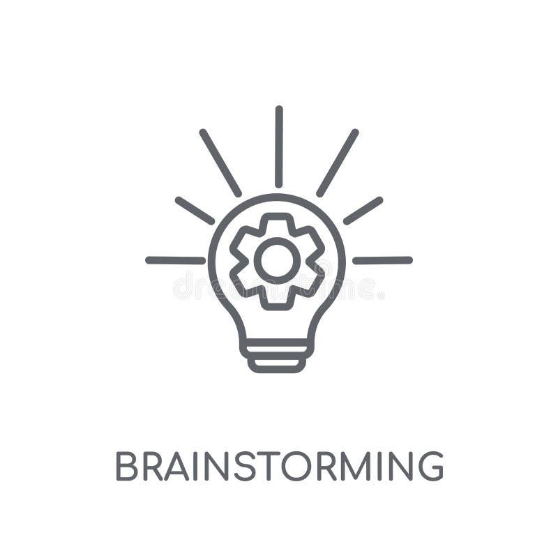Brainstorming liniową ikonę Nowożytny konturu Brainstorming logo przeciw ilustracji