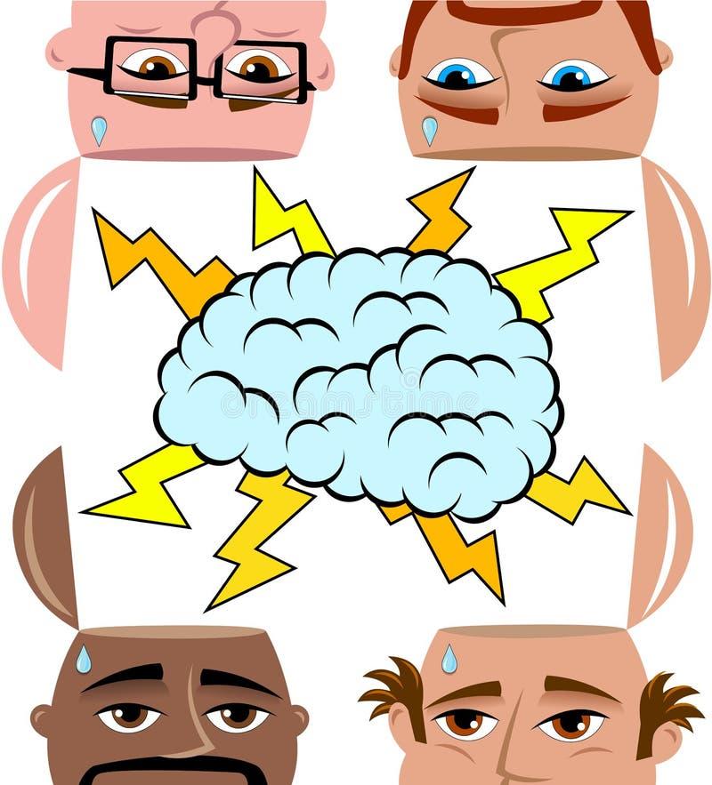 Brainstorming mężczyzna Dzieli Otwarty Pamiętający Odosobnionego ilustracja wektor
