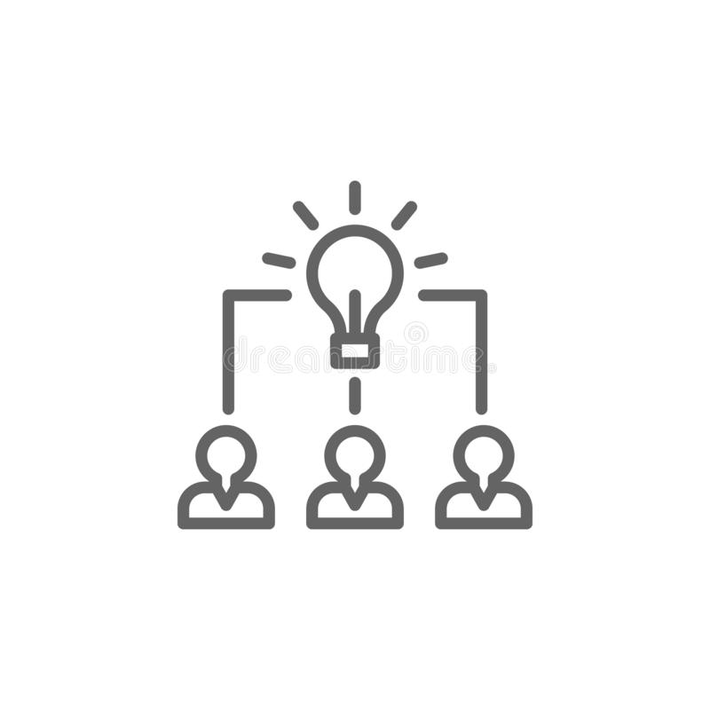 Brainstorming men outline icon. Elements of Business illustration line icon. Signs and symbols can be used for web, logo, mobile royalty free illustration