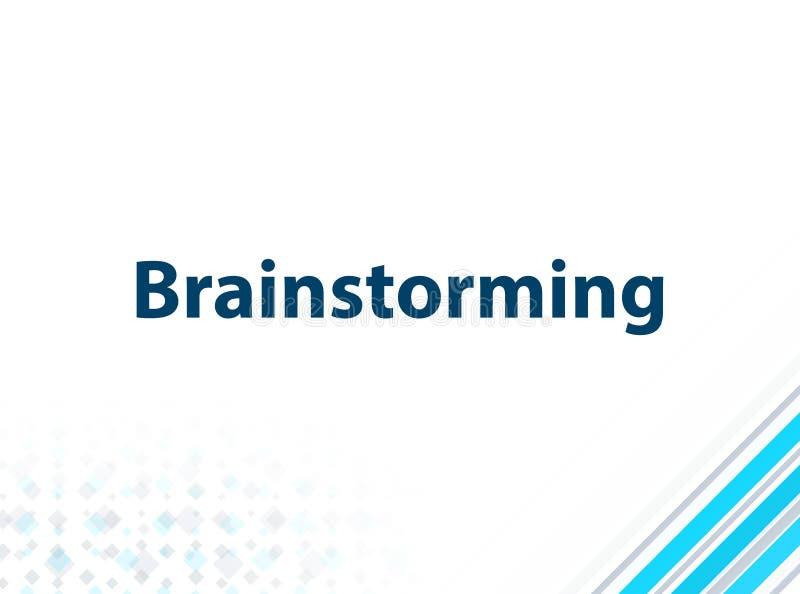 Brainstorming Nowożytnego Płaskiego projekta Błękitnego Abstrakcjonistycznego tło ilustracja wektor