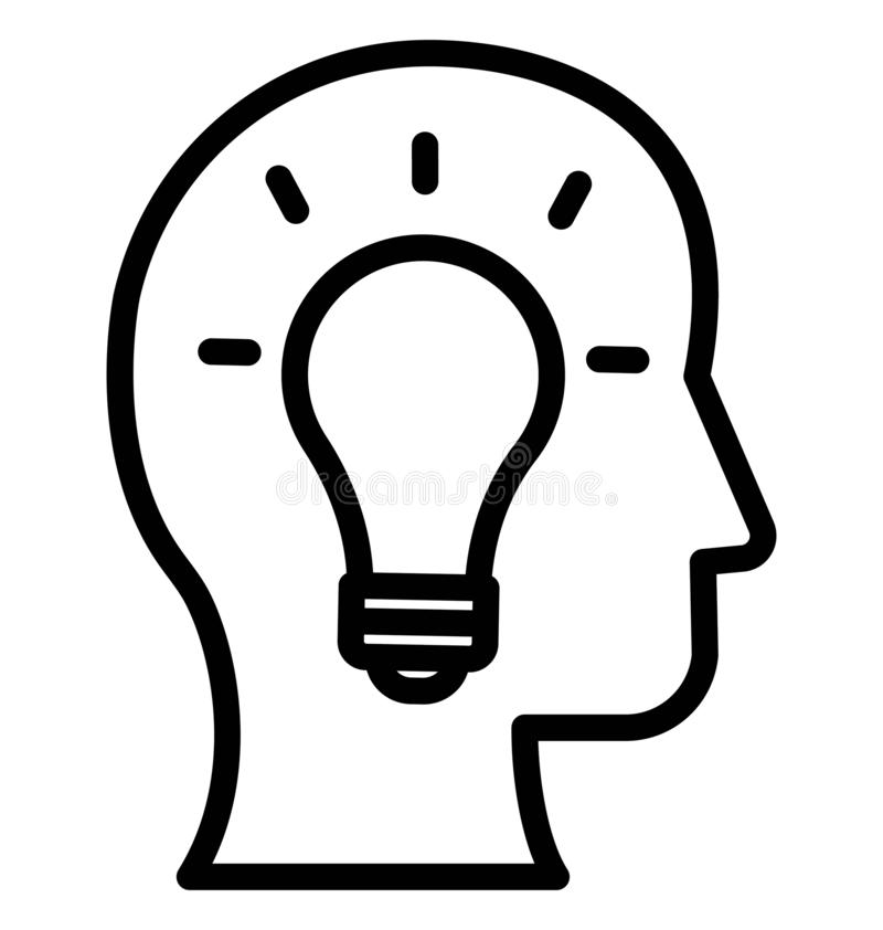 Brainstorming Odosobnioną Wektorową ikonę która może łatwo redagować lub modyfikować royalty ilustracja