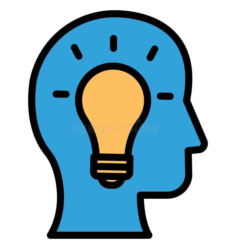 Brainstorming Odosobnioną Wektorową ikonę która może łatwo redagować lub modyfikować ilustracja wektor