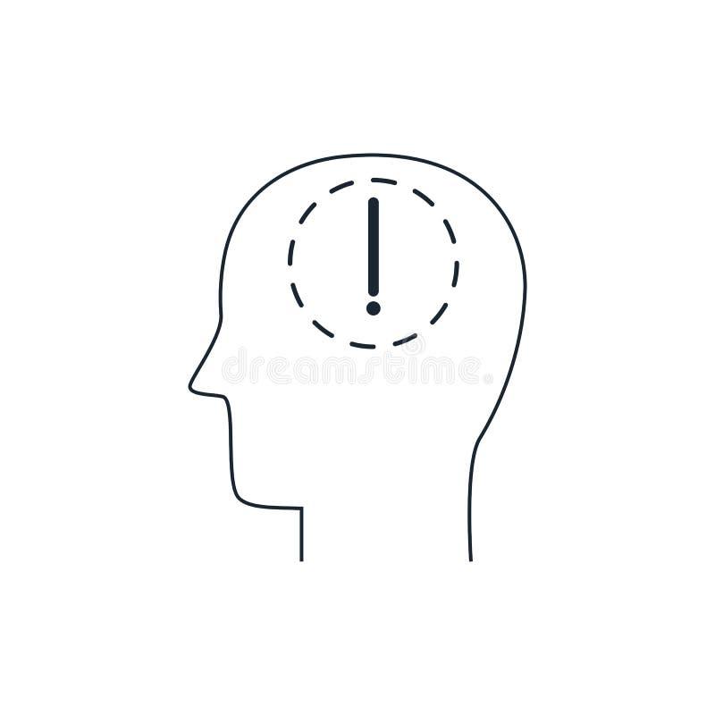 Brainstorming piktogram, cienieje kreskową ikonę ilustracji