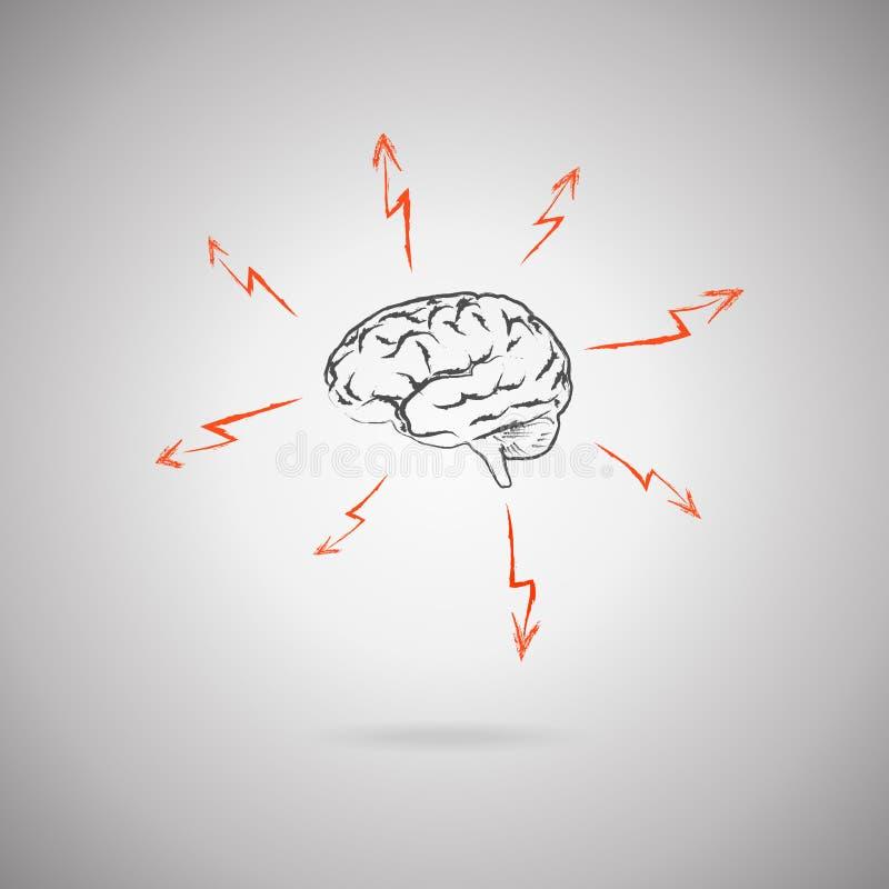 Brainstorming pojęcie ilustracji