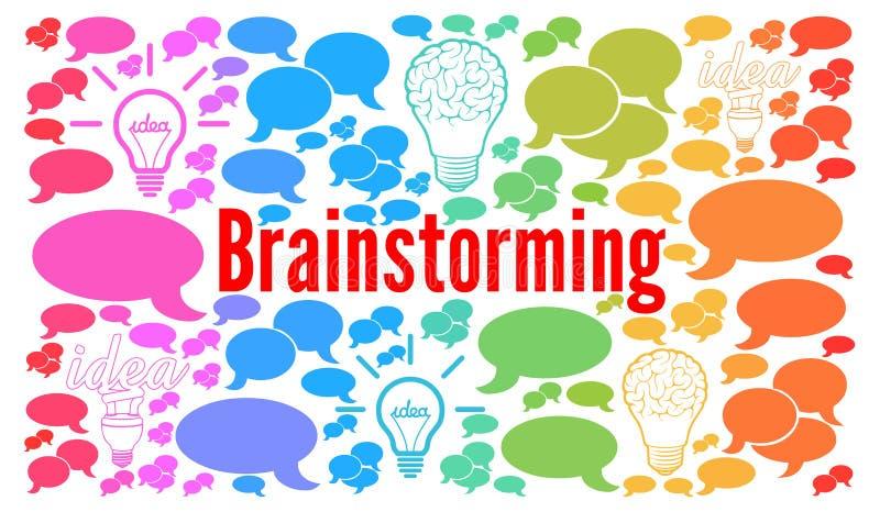 Brainstorming pojęcie royalty ilustracja