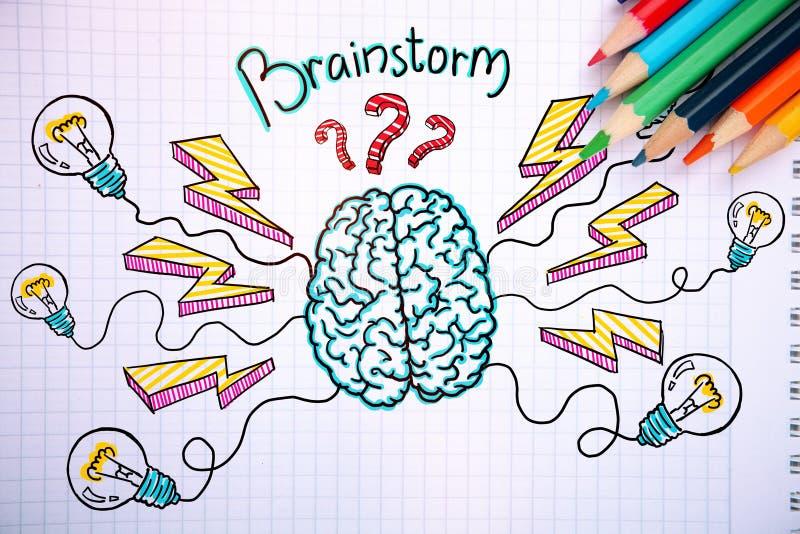 Brainstorming pojęcie ilustracja wektor