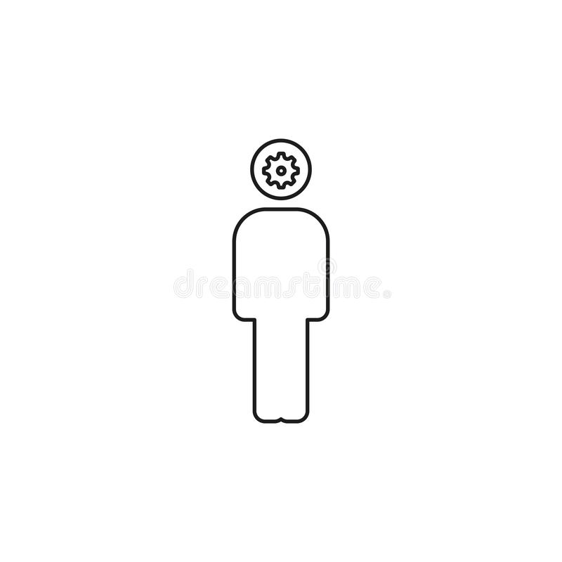 Brainstorming poj?cia linii ikona ilustracji