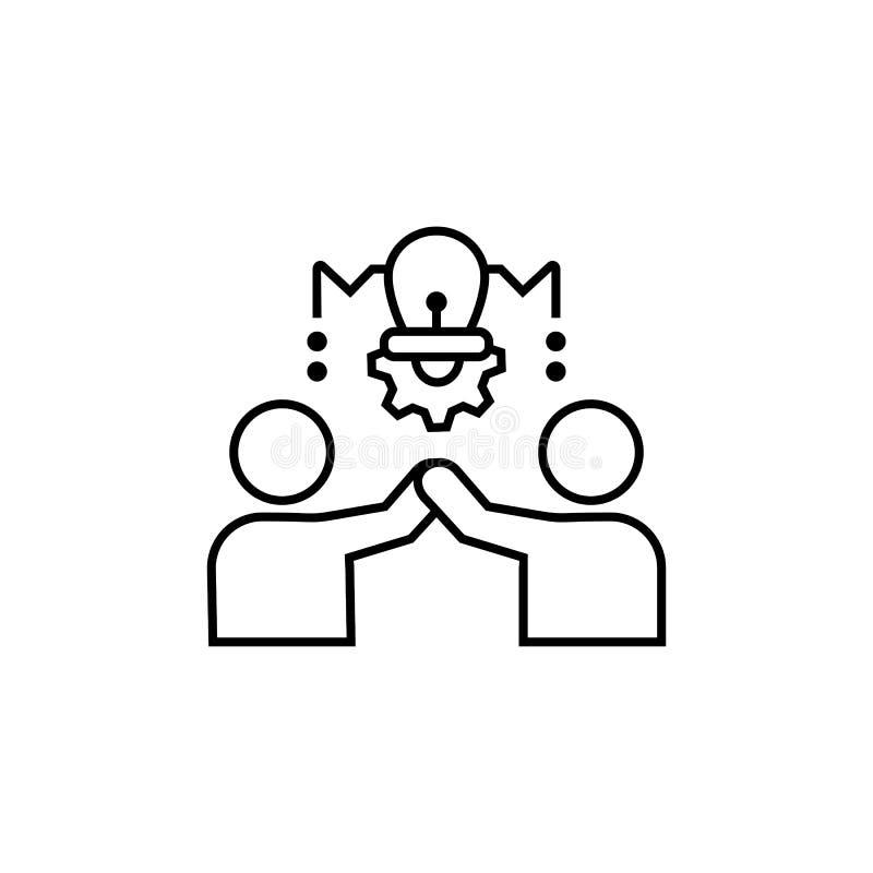 Brainstorming, pomysł, biznesmen ikona Element biznesowa ikona ilustracja wektor