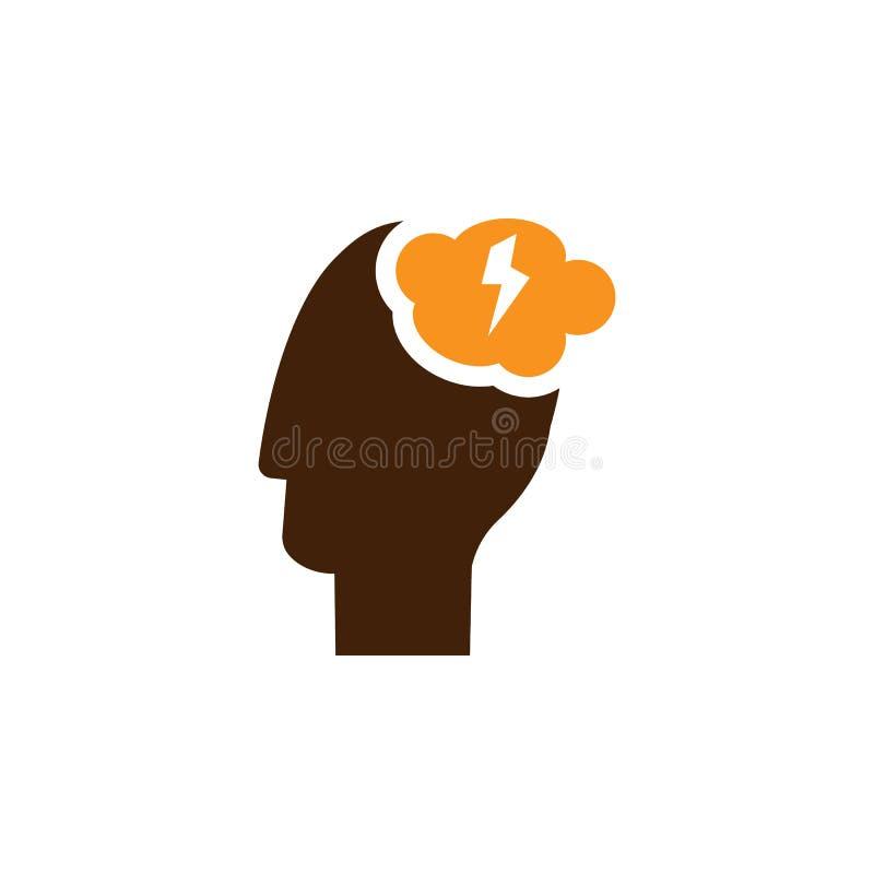 Brainstorming, pomysł ikona Element sieci optymalizacji ikona dla mobilnych pojęcia i sieci apps Szczegółowy Brainstorming, pomys ilustracja wektor